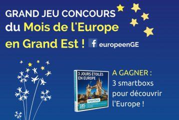 Grand Jeu Concours du Mois de l'Europe en Grand Est : gagnez des voyages en Europe !