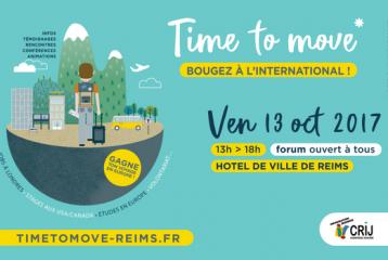 """Forum de la mobilité internationale """"Time to move"""" - 13 octobre 2017 !"""