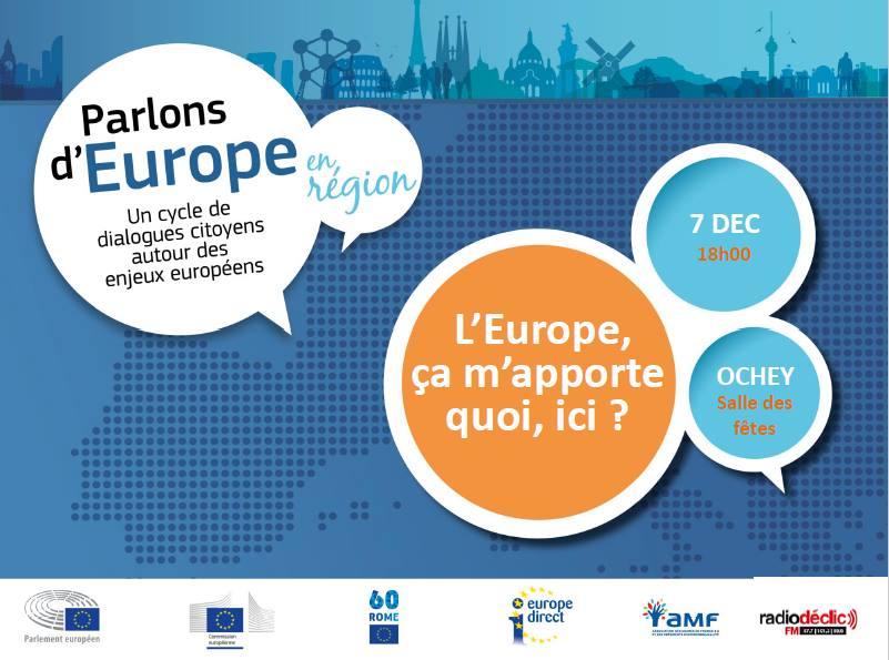 Parlons d'Europe en Région - le 7 décembre à Ochey