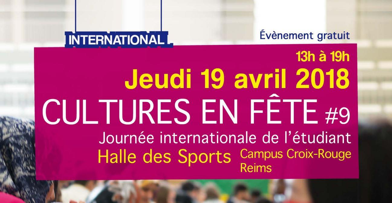 Cultures en fête : 19 avril 2018 à l'URCA / Reims
