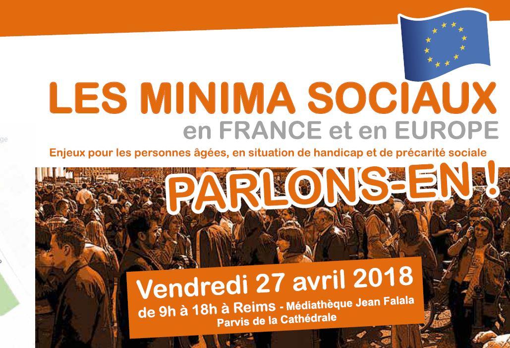 Les minima sociaux en France et en Europe : Parlons-en à Reims le 27 avril !