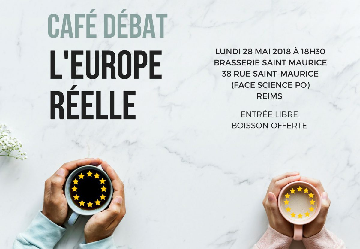 """Café débat """"L'Europe réélle"""" : des initiatives européennes locales"""