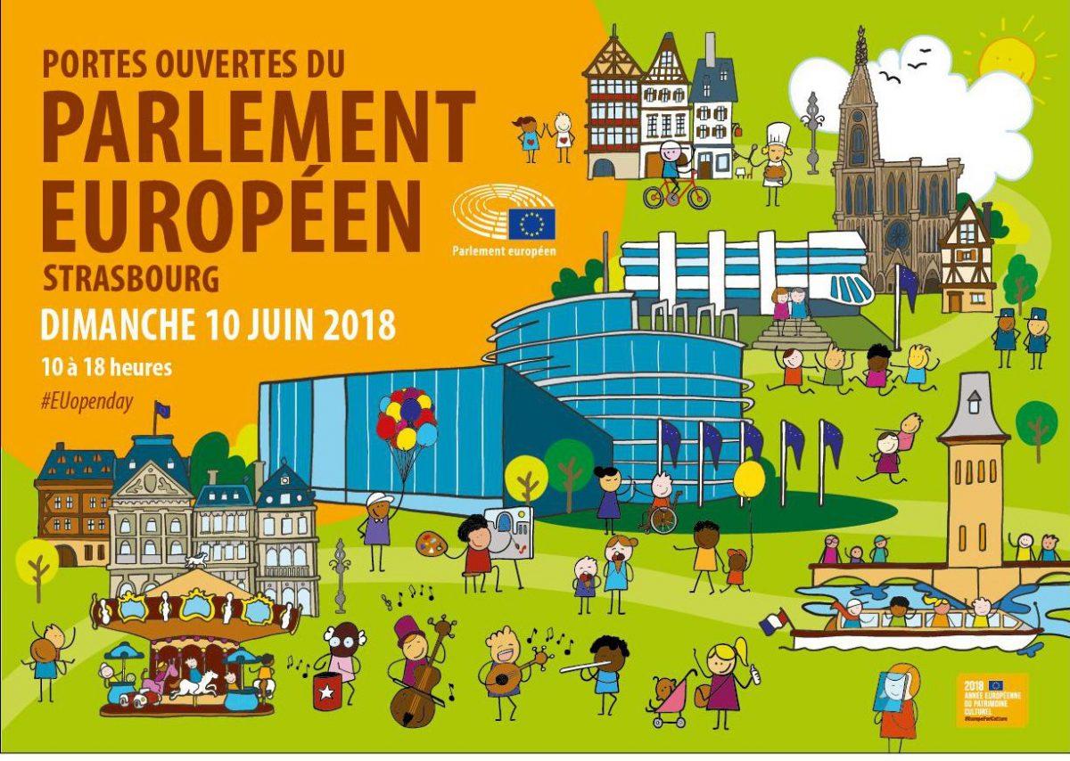 Journée portes ouvertes au Parlement européen à Strasbourg : 10 juin 2018