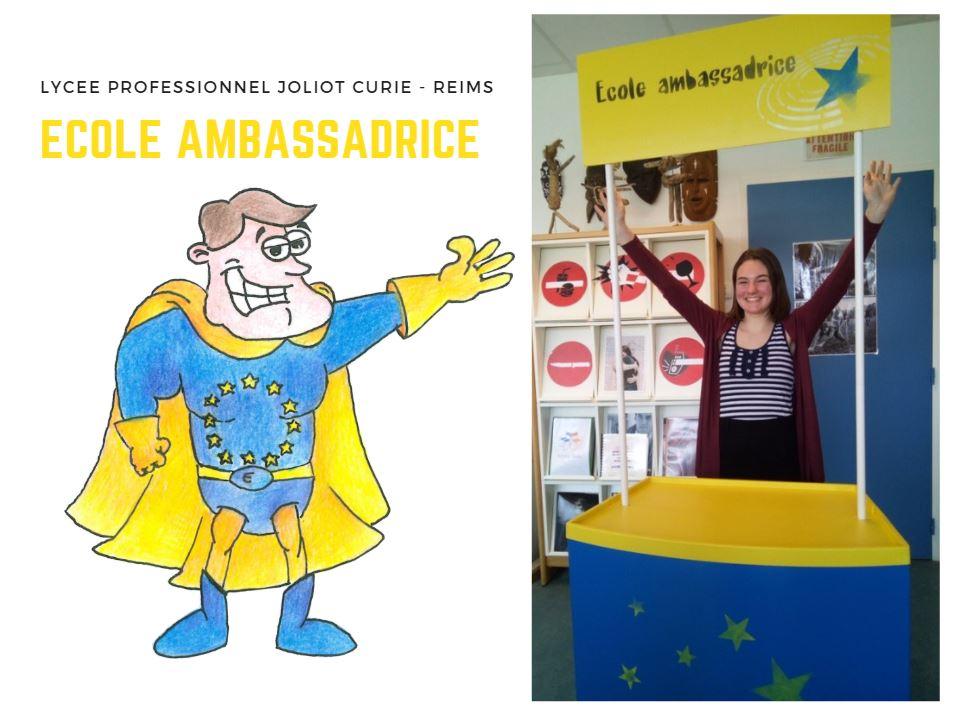 Lycée Professionnel Joliot Curie : Ecole Ambassadrice du Parlement européen à Reims