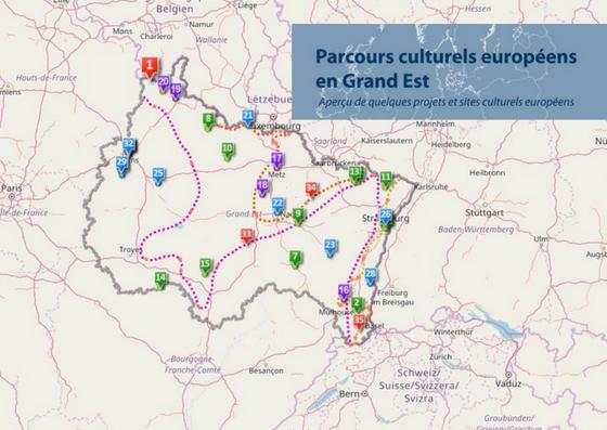 Parcours culturels européens en Grand Est