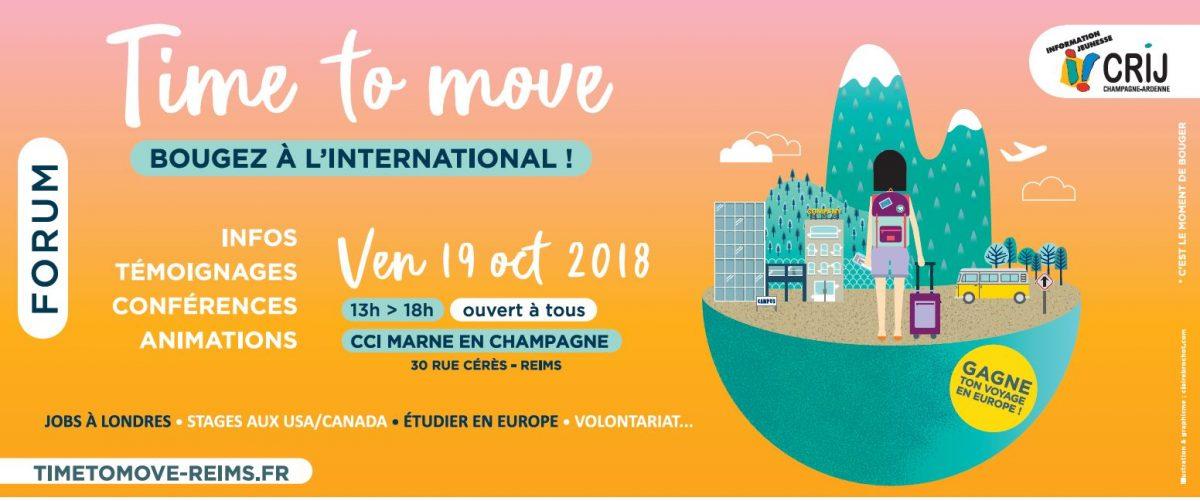 """Forum """"Time to move / Bougez à l'international"""" à Reims"""