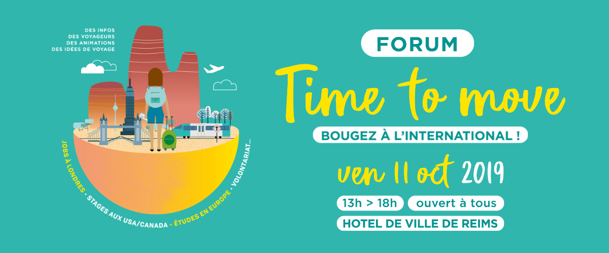 "Forum ""Time to move"" – 11 octobre 2019 à Reims"
