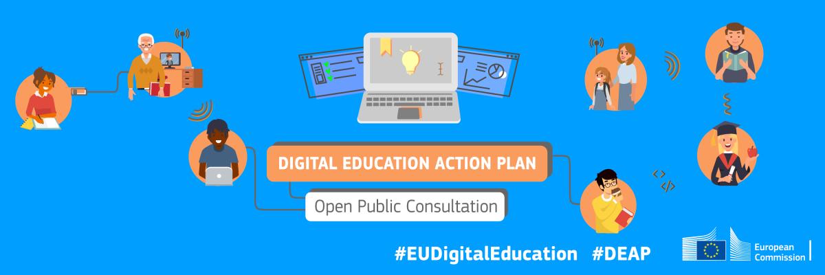 Consultation publique : le plan d'action en matière d'éducation numérique de l'UE