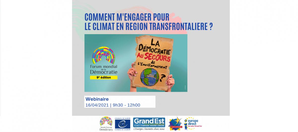 Webinaire : Comment m'engager pour le climat en région transfrontalière ?