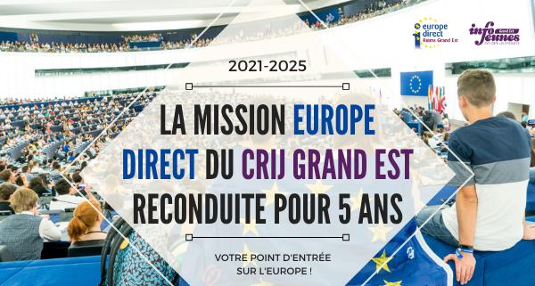 La mission Europe Direct du CRIJ Grand Est reconduite pour cinq ans