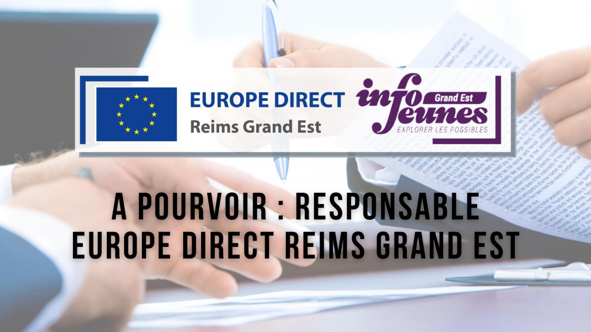 Offre d'emploi : Responsable Europe Direct Reims Grand Est