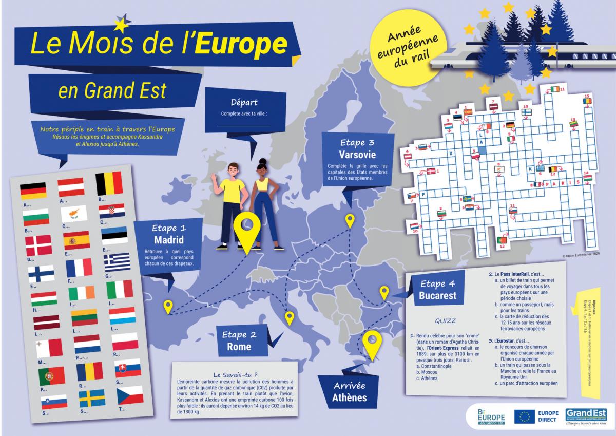 Commandez vos sets de table pour le Mois de l'Europe